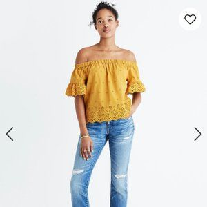 Madewell Eyelet Off-the-Shoulder Top size M EUC